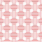 Striped Red Dots Seamless Pattern. Red giant dots pattern with vertical and horizontal stripes. Seamless texture background Stock Image