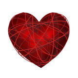 Striped red heart Royalty Free Stock Image
