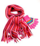 Striped red scarf Stock Photography
