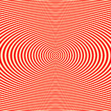 Striped red white pattern. Abstract repeat round waves texture background. Stock Image