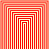 Striped red white pattern. Abstract repeat straight lines geometric texture background. Vector illustration Royalty Free Stock Photography