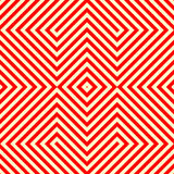 Striped red white seamless pattern. Abstract repeat angular lines texture background. Stock Image