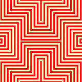 Striped red white seamless pattern. Abstract repeat angular lines texture background. Stock Photo