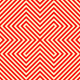 Striped red white seamless pattern. Abstract repeat angular lines texture background. Vector illustration Royalty Free Stock Images