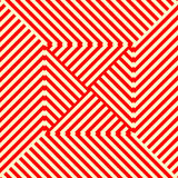 Striped red white seamless pattern. Abstract repeat angular lines texture background. Vector illustration Royalty Free Stock Photos