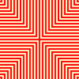 Striped red white seamless pattern. Abstract repeat angular lines texture background. Vector illustration Stock Images