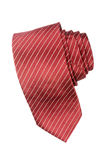 Striped red and white tie Stock Photos