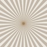 Striped retro background with radiating rays. Burst vector background, retro background design Stock Images