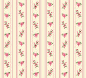 Striped retro floral seamless. Striped retro rose seamless in village style Royalty Free Stock Images