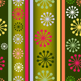 Striped retro seamless  background (vector) Royalty Free Stock Images