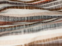 Striped retro styled pattern cloth fabric background Royalty Free Stock Image