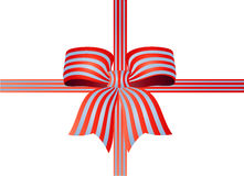 Striped Ribbon Bow Royalty Free Stock Image