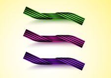 Striped ribbon set vector illustration