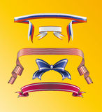 Striped ribbons and bow Stock Photography