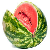 Striped ripe water-melon Stock Images