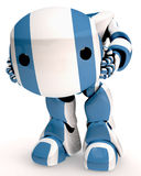 Striped Robot Royalty Free Stock Photography