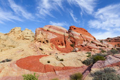 Striped Rock, Valley of Fire State Park Stock Photos