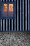 Striped Room. A premade background of a striped wall room for artist to use in their artwork Royalty Free Stock Photography