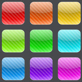 Striped rounded square buttons Royalty Free Stock Images