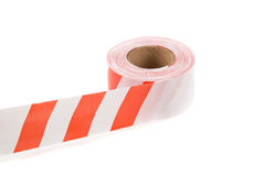 Striped safety ribbon Stock Image