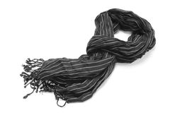 Striped scarf Royalty Free Stock Photo