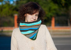 Striped scarf Royalty Free Stock Photos