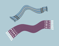 Striped Scarf Isolated Royalty Free Stock Photo