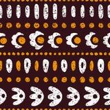 Striped seamless ethnic pattern. Vintage print for textiles, gru. Nge texture royalty free illustration