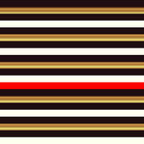 Striped seamless pattern, black, white, yellow, red stripe Stock Image