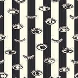 Striped seamless pattern in the bohemian style Stock Photo