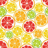 Striped seamless pattern with lime, orange and grapefruit. Tasty summer background. Yummy tropical fruits endless texture. Can be used for wallpapers, banners Royalty Free Stock Images