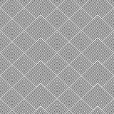 Striped shapes - seamless geometric pattern. Royalty Free Stock Images