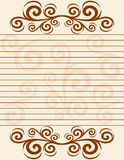 Striped sheet of paper with Stock Photography