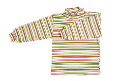 Striped shirt. Children's wear - striped shirt isolated over white background royalty free stock images