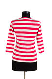 Striped shirt isolated Stock Photography