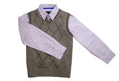 Striped shirt and waistcoat Royalty Free Stock Photography