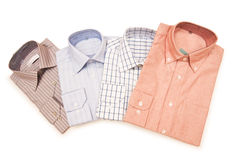 Striped shirts isolated. On the white background Royalty Free Stock Photos