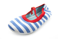 Striped shoe Stock Image