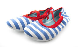 Striped shoes Royalty Free Stock Photography