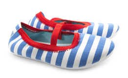 Striped shoes Royalty Free Stock Images