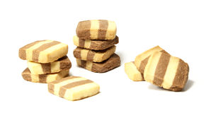 Striped Shortbread Cookies royalty free stock photos
