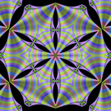 Striped silk mandala Stock Photography