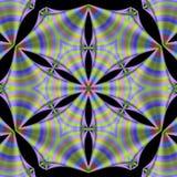 Striped Silk Mandala Stock Photography