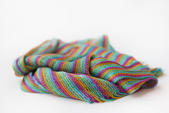 Striped Silk scarf. Striped silk woven scarf, four colors Royalty Free Stock Photos