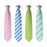 Striped silk ties template. On white Royalty Free Stock Image