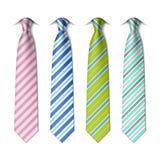 Striped silk ties template Royalty Free Stock Image