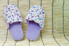 striped slippers for women royalty free stock photos