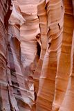 Striped slot canyon walls. Stock Photo
