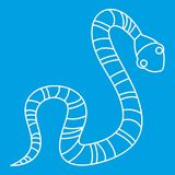 Striped snake icon, outline style Royalty Free Stock Images