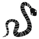 Striped snake icon, simple style. Striped snake icon. Simple illustration of striped snake vector icon for web Royalty Free Stock Image